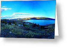 Sunset On Skaha Lake Greeting Card