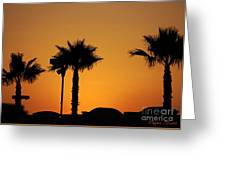 Sunset On Socal Beach Greeting Card