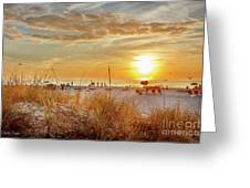 Sunset On St Pete Greeting Card
