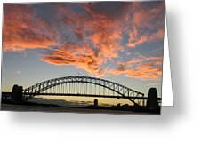 Sunset On Sydney Harbor Greeting Card