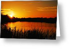 Sunset On The Alafia Greeting Card