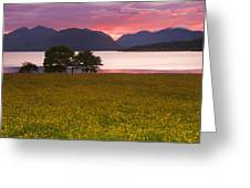 Sunset On The Ardgour Mountains Greeting Card