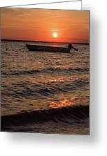Sunset On The Bay Lavallette New Jersey  Greeting Card