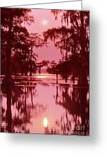 Sunset On The Bayou Atchafalaya Basin Louisiana Greeting Card