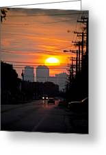 Sunset On The City Greeting Card