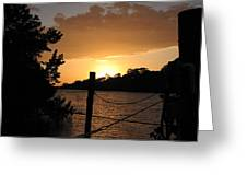 Sunset On The Dock II Greeting Card