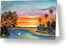Sunset On The Glades Greeting Card