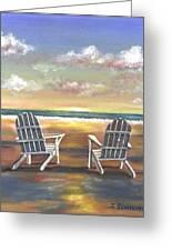 Sunset On The Gulf Coast Greeting Card