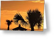 Sunset On The Gulf Coast Greeting Card