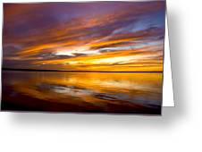 Sunset On The Harbor Greeting Card
