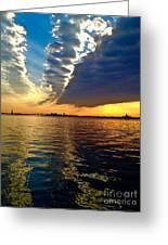 Sunset On The Hudson 03 New York Greeting Card