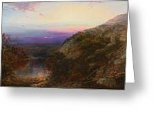 Sunset On The Hudson Greeting Card