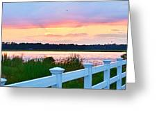 Sunset On The Indian River Greeting Card