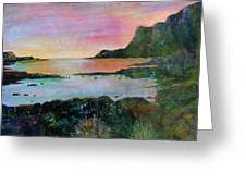 Sunset On The Isle Of Skye Greeting Card