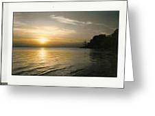 Sunset On The James Greeting Card