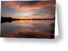 Sunset On The Lake Greeting Card