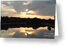 Sunset On The Lakefront Greeting Card