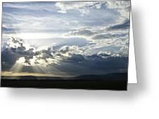Sunset On The Mara Greeting Card