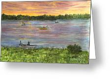 Sunset On The Merrimac River Greeting Card