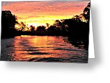 Sunset On The Murray River Greeting Card
