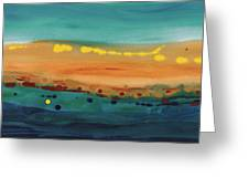Sunset On The Ocean Greeting Card