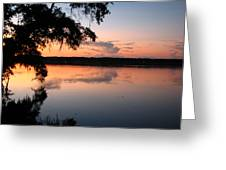 Sunset On The Ogeechee Greeting Card