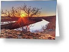 Sunset On The Osage River Greeting Card