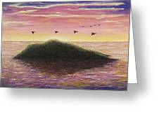Sunset On The Pacific Greeting Card