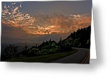 Sunset On The Parkway Greeting Card