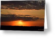 Sunset On The Prairie Greeting Card