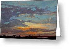 Sunset On The Prarie Greeting Card