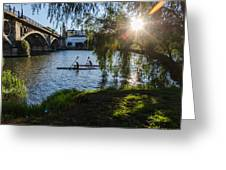 Sunset On The River - Seville  Greeting Card