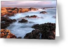 Sunset On The Rugged Coastline Of Kerry Ireland Greeting Card