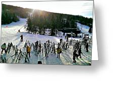 Sunset On The Slopes Greeting Card