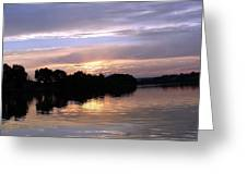 Sunset On The Snake Greeting Card