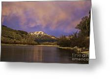 Sunset On The Snake River Greeting Card