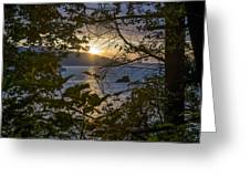 Sunset On The Sound2 Greeting Card