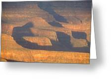 Sunset On The South Rim Of The Canyon Greeting Card