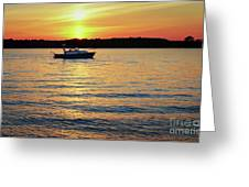 Sunset On The Strand Greeting Card