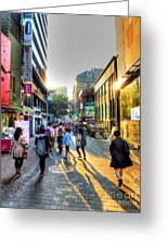 Sunset On The Streets Of Seoul Greeting Card