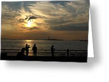 Sunset On The Upper Bay Greeting Card
