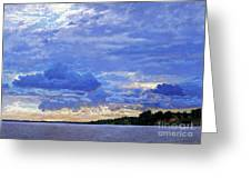 Sunset On The Volga. Gorodets Greeting Card