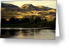 Sunset On The Yellowstone Greeting Card