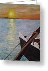 Sunset On The York River Greeting Card