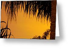 Sunset Orange After Storm Greeting Card