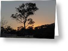 Sunset - Out In The Country Greeting Card
