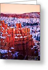 Sunset Over A Hoodoo Nation I Greeting Card