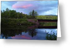Sunset Over Amoonoosuc River Greeting Card