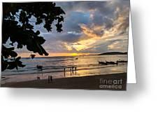 Sunset Over Ao Nang Beach Thailand Greeting Card