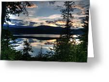 Sunset Over Arrow Lake Greeting Card